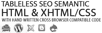 Psd to Html Conversion Service: jQuery Script Customization, PSD To Wordpress Theme, Design to Joomla Template, Design to Blogger Theme, PSD to Drupal Integration